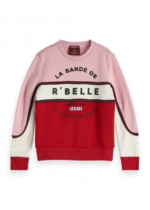 Scotch R'belle Crew neck sweat in sporty