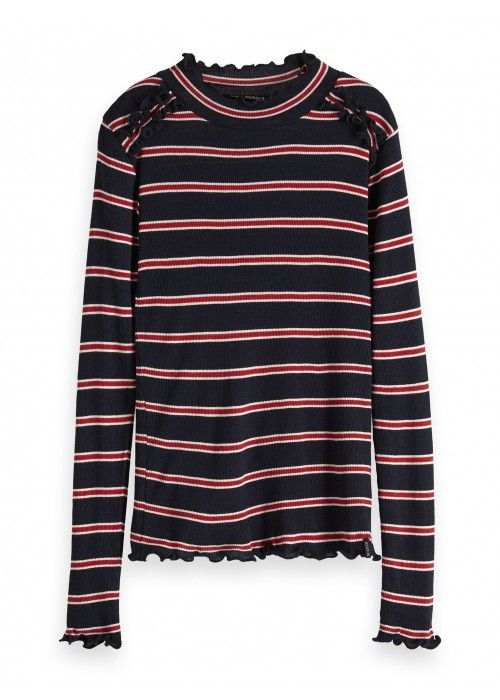 Scotch R'belle Rib knit long sleeve tee