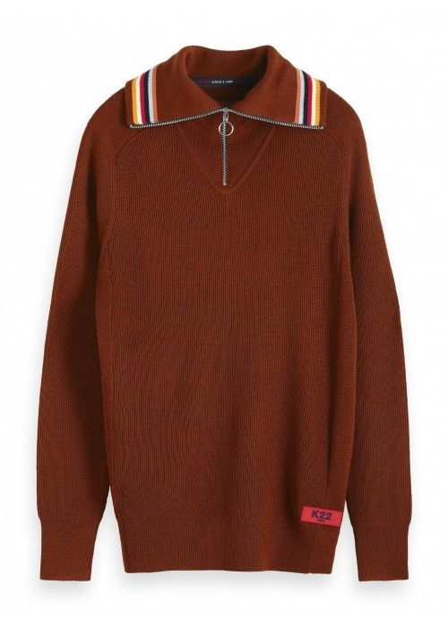 Scotch & Soda Lightweight rib knit pullover
