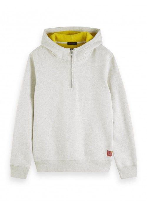 Scotch & Soda Classic half-zip hoody with