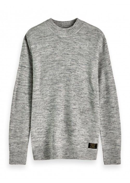 Scotch & Soda Melange rib knit pull