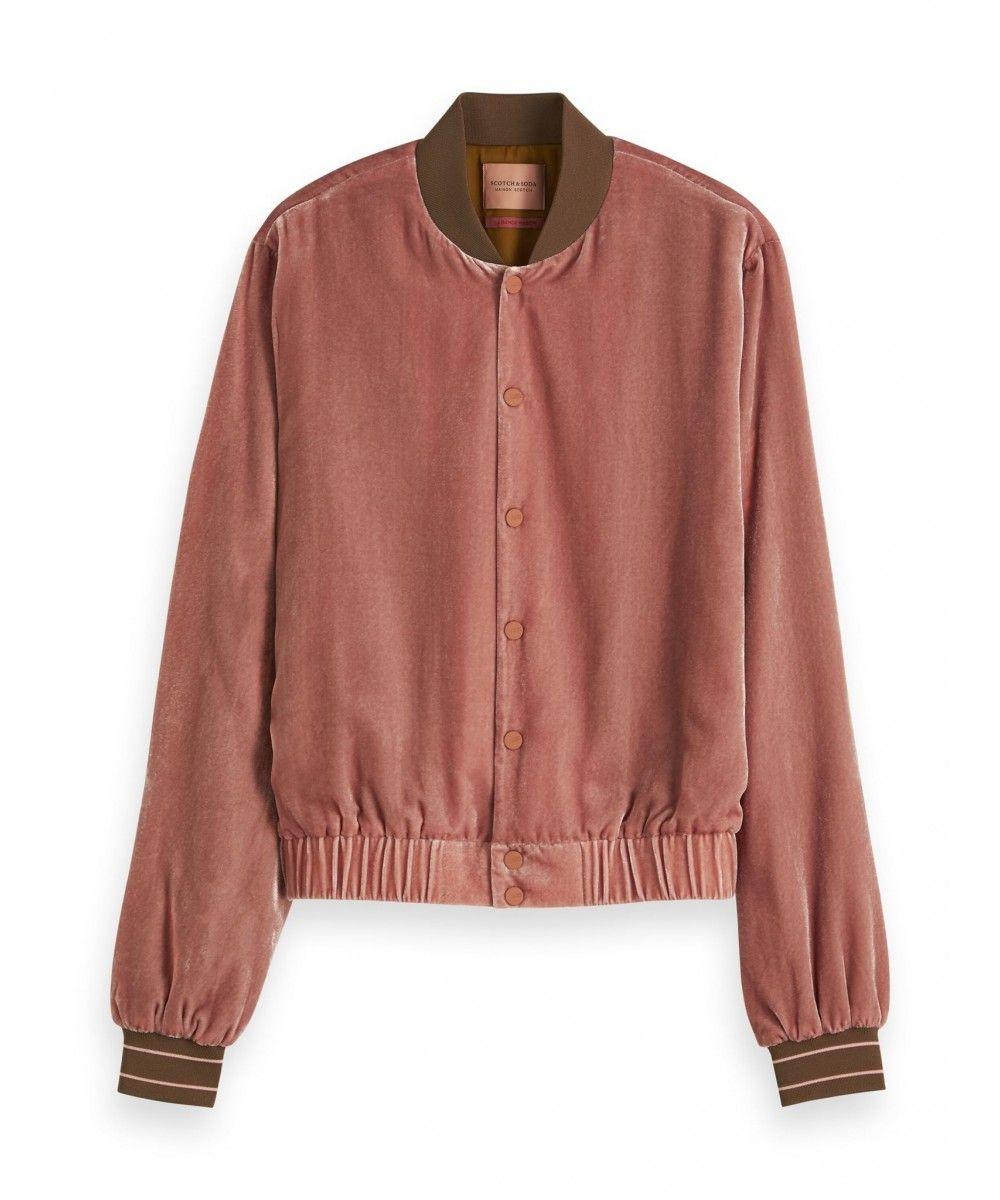 Maison Scotch Velvet track jacket