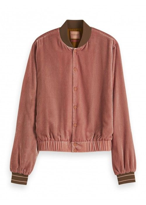 Maison Scotch Velvet track jacket