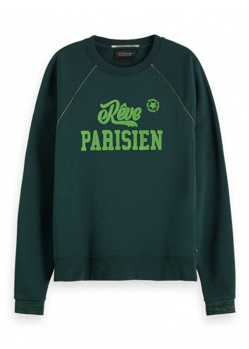 Maison Scotch Crewneck sweat with bold artwo