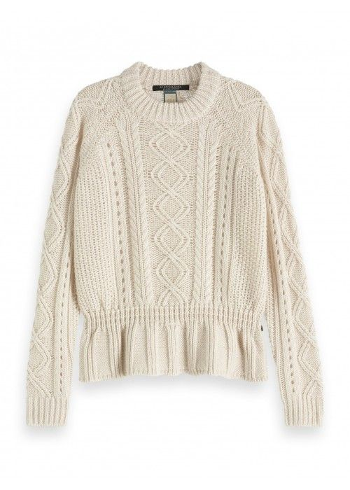 Maison Scotch Chunky cable knit