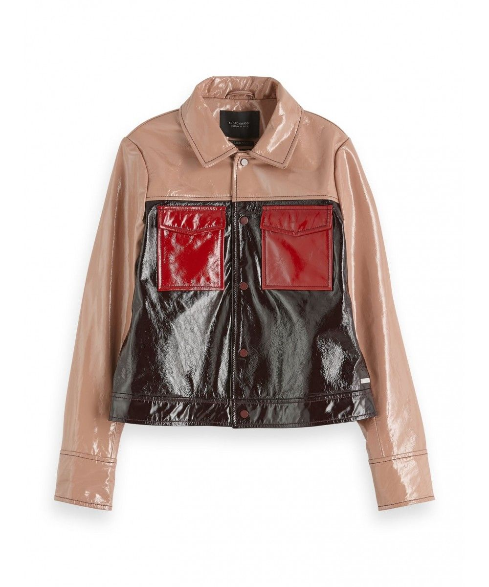 Maison Scotch Colour blocked patent leather