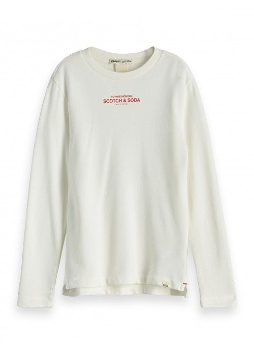 Scotch Shrunk Organic long sleeve tee with