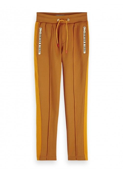 Scotch Shrunk Sweatpants with contrast woven