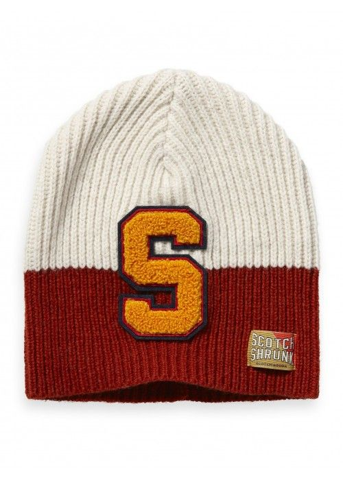 Scotch Shrunk Varisity colour-block beanie
