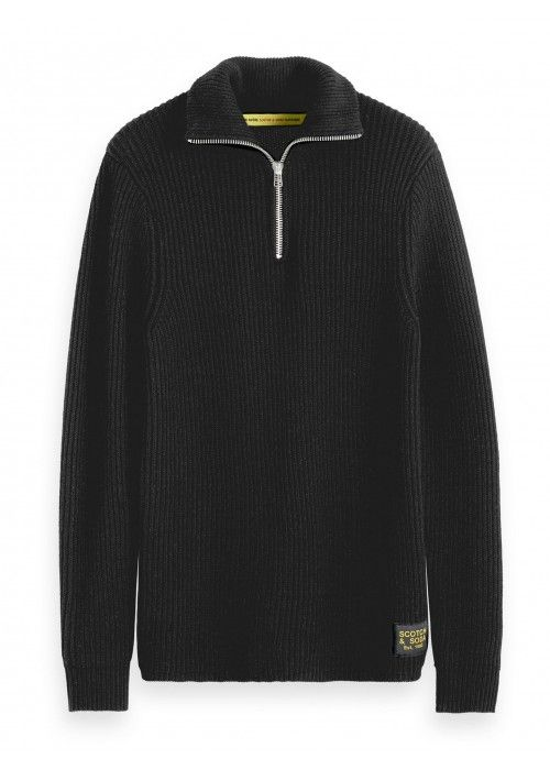 Scotch & Soda Chunky rib knit pull with high