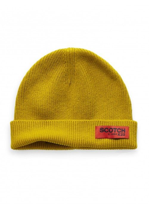 Scotch & Soda Classic rib knit beanie