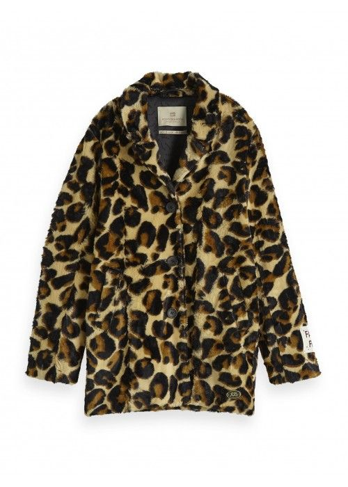 Scotch R'belle Longer length faux fur leopard