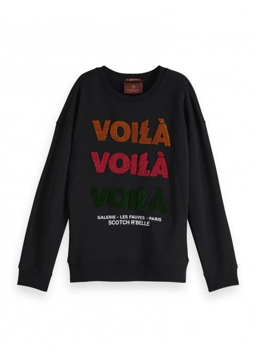 Scotch R'belle Crew neck sweat with work