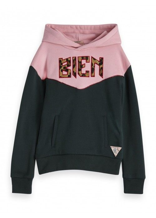 Scotch R'belle Hoody with contrast panels