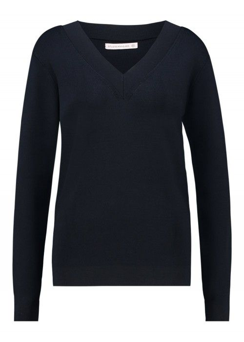 StudioAnneloes Sonia V-Neck Pullover LS