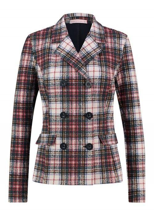 StudioAnneloes Gwen Check Bonded Blazer