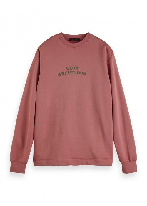 Scotch & Soda Crewneck sweat in clean felpa