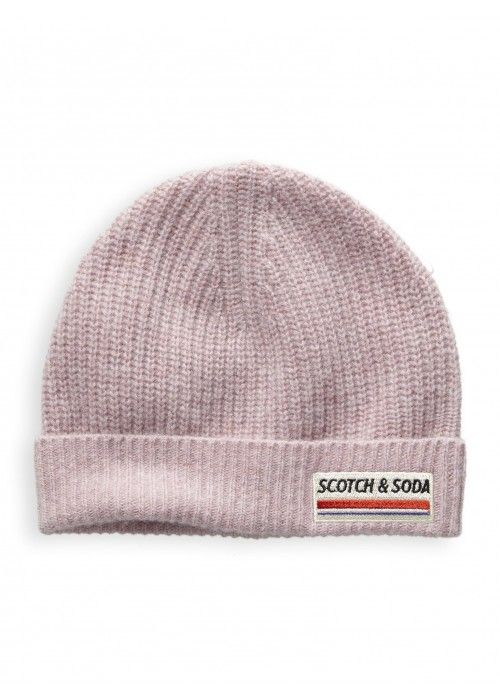 Scotch & Soda Rin knit beanie in soft wool