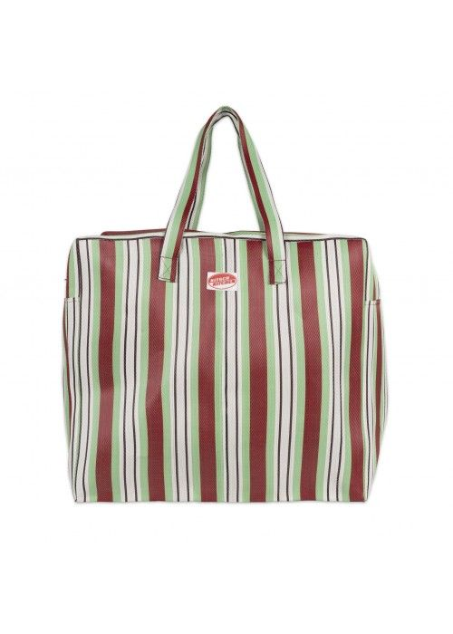 Eb & Vloed Travel BAG stripes Green