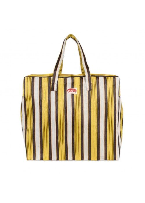 Eb & Vloed Travel BAG stripes Yellow