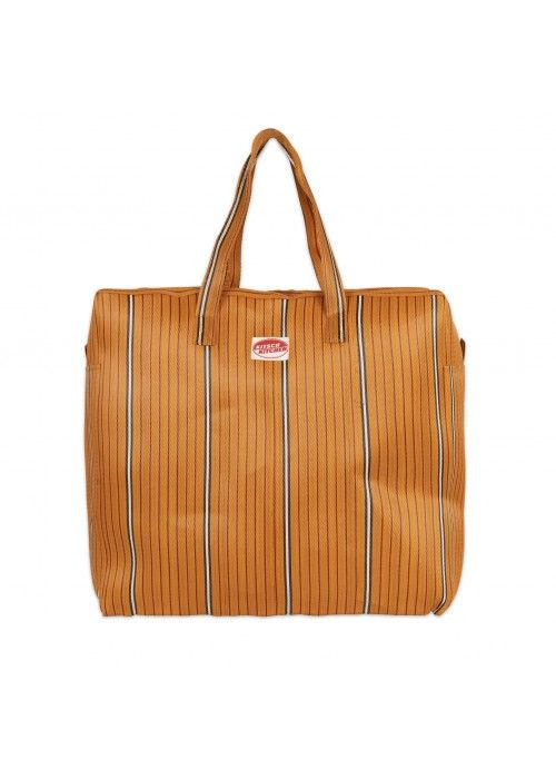 Eb & Vloed Travel BAG stripes Orange
