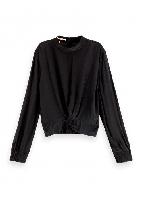 Maison Scotch Feminine top with knot detail