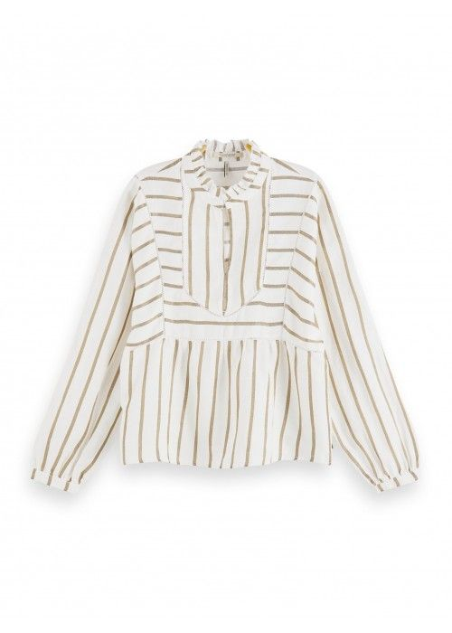 Maison Scotch Metallic striped tunic with