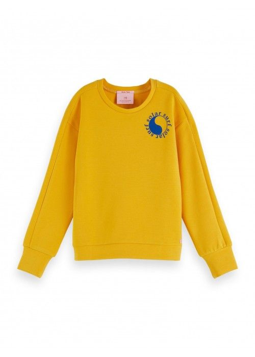 Scotch R'belle Crew neck sweat in new clean