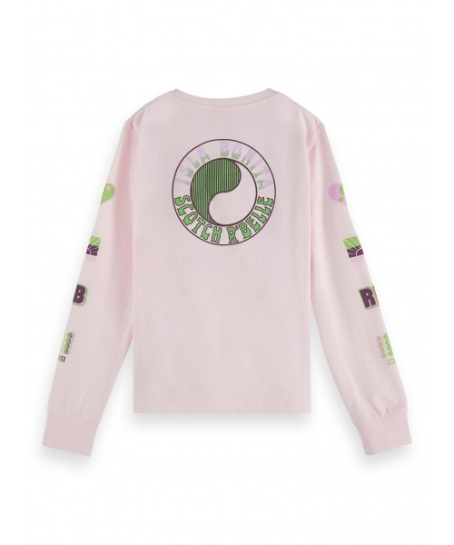 Scotch R'belle Long sleeve tee in organic cot
