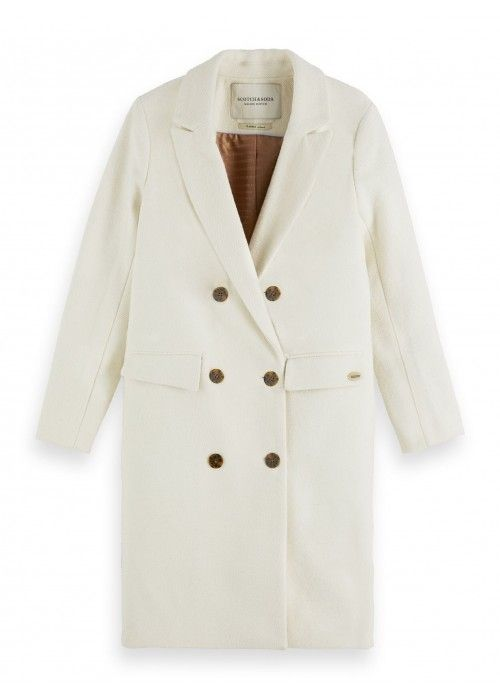 Maison Scotch Long double breasted wool coat