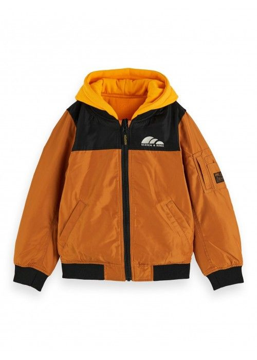 Scotch Shrunk Reversible bomber with sweat