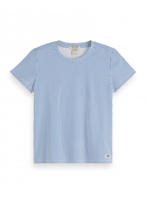 Maison Scotch Basic tee in mercerized jersey