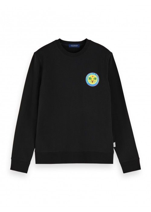Scotch & Soda Crewneck sweat with logo