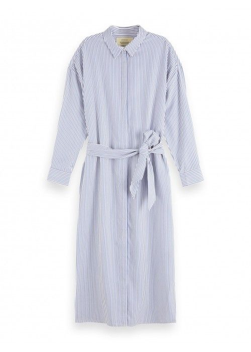 Maison Scotch Striped shirt dress