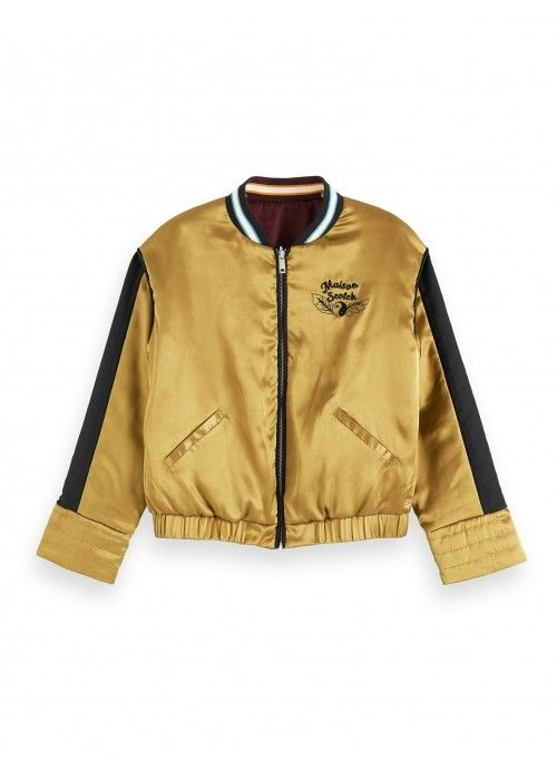 Maison Scotch Reversible souvenir jacket