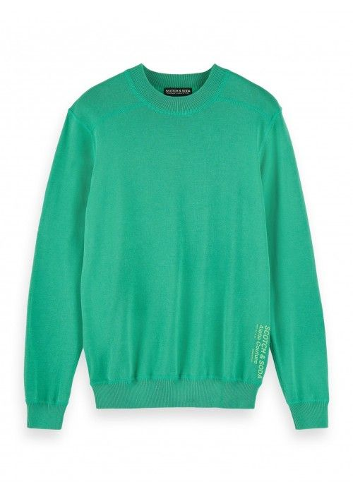 Scotch & Soda Garment-dyed crewneck pull