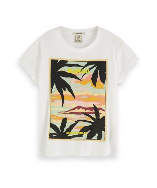 Scotch R'belle Relaxed fit tee with Hawaii