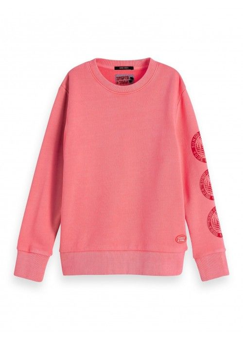 Scotch Shrunk Garment dyed crew neck sweat