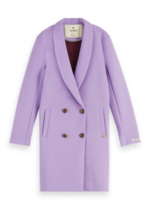 Maison Scotch Tailored coat in bonded jersey