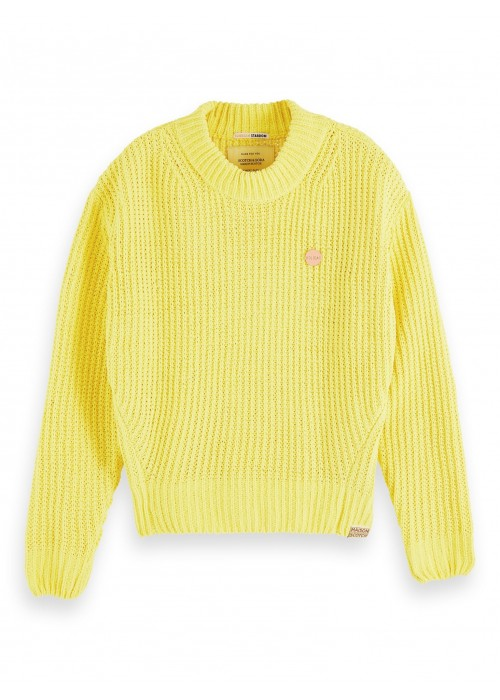 Maison Scotch Solid crochet pullover