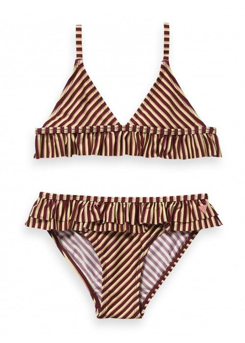 Scotch R'belle Triangle bikini with ruffle