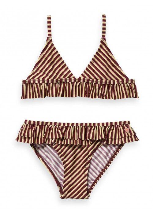 Scotch R'belle Triangle bikini with ruffle