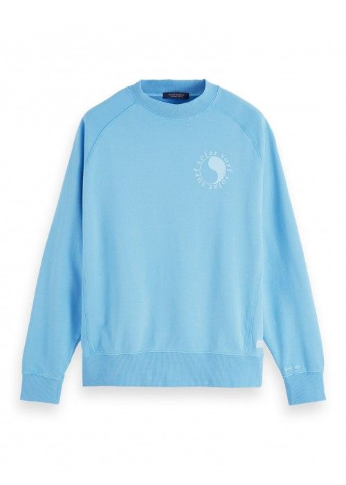 Scotch & Soda Garment-dyed crewneck sweat