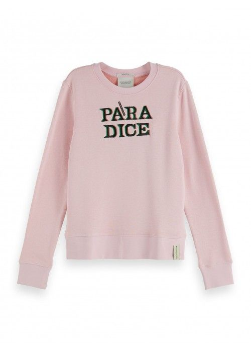 Maison Scotch Crewneck sweat with artworks