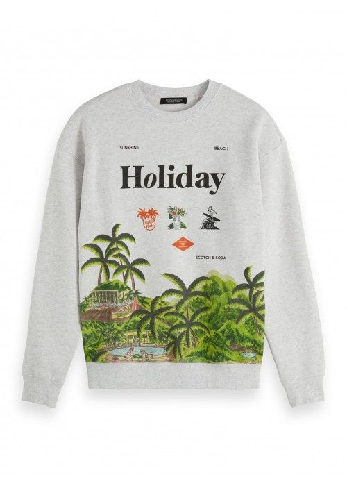 Scotch & Soda Crewneck sweat with seasonal