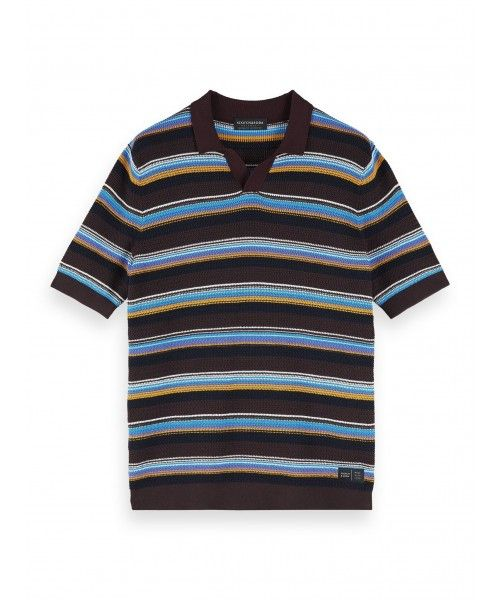 Scotch & Soda Chic structured knitted polo