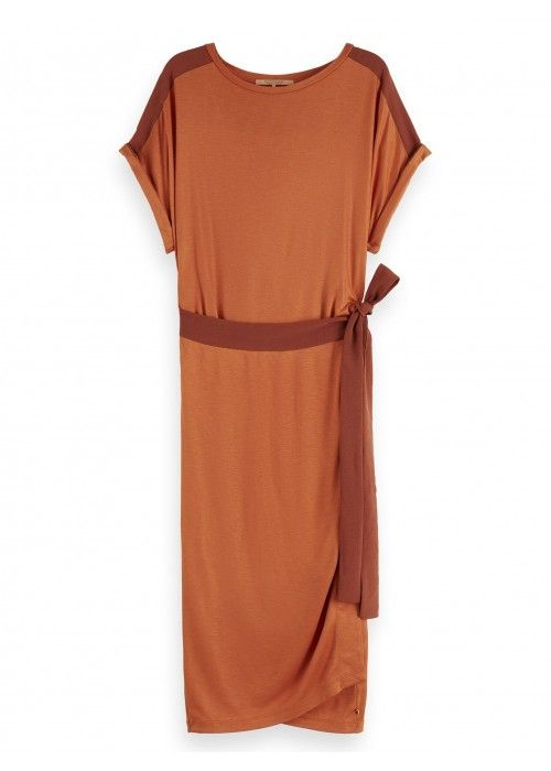 Maison Scotch Wrap dress in jersey