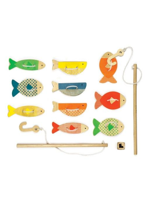 Eb & Vloed Wooden Game - Fishing Around