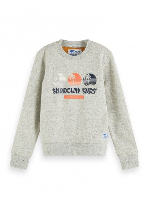 Scotch Shrunk Crewneck sweat in two tone