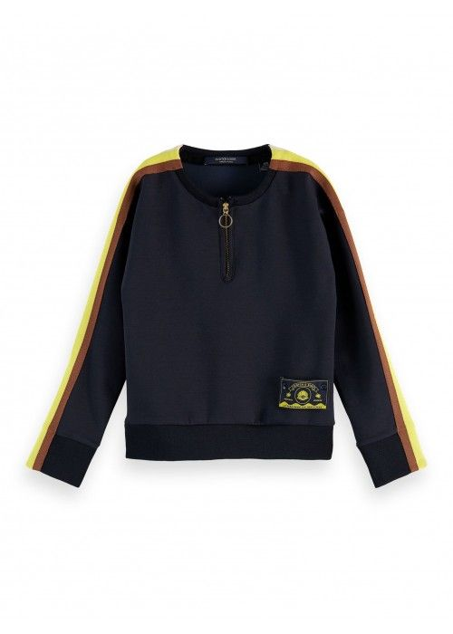 Scotch R'belle Crewneck Sweat Taped Sleeves